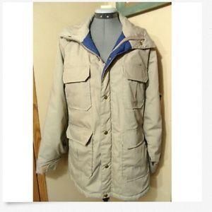 WOOLRICH Winter Utility Coat XL Khaki Parka jacket